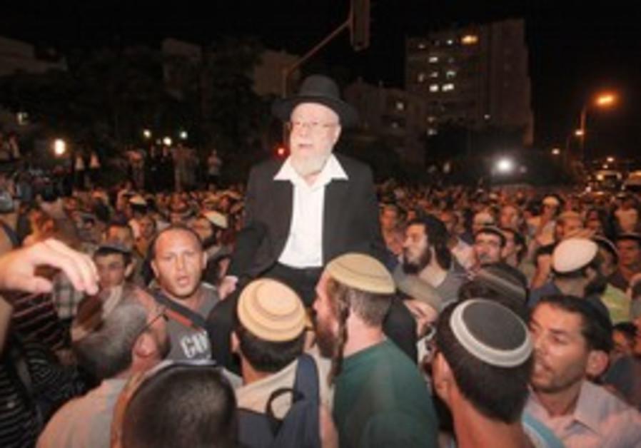 Kiryat Arba Chief Rabbi Dov Lior  in J'lem