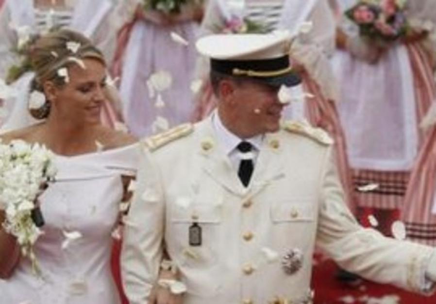 Monaco's Prince Albert II and Princess Charlene