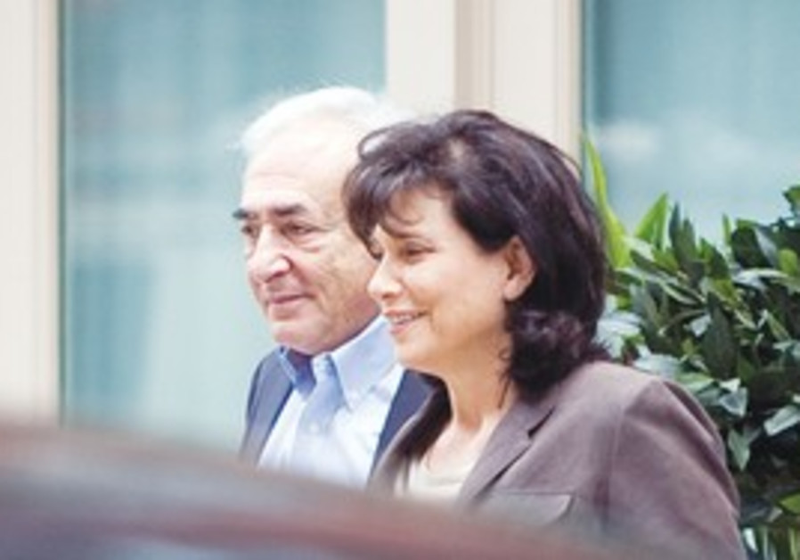 Dominique Strauss-Kahn and his wife in NY