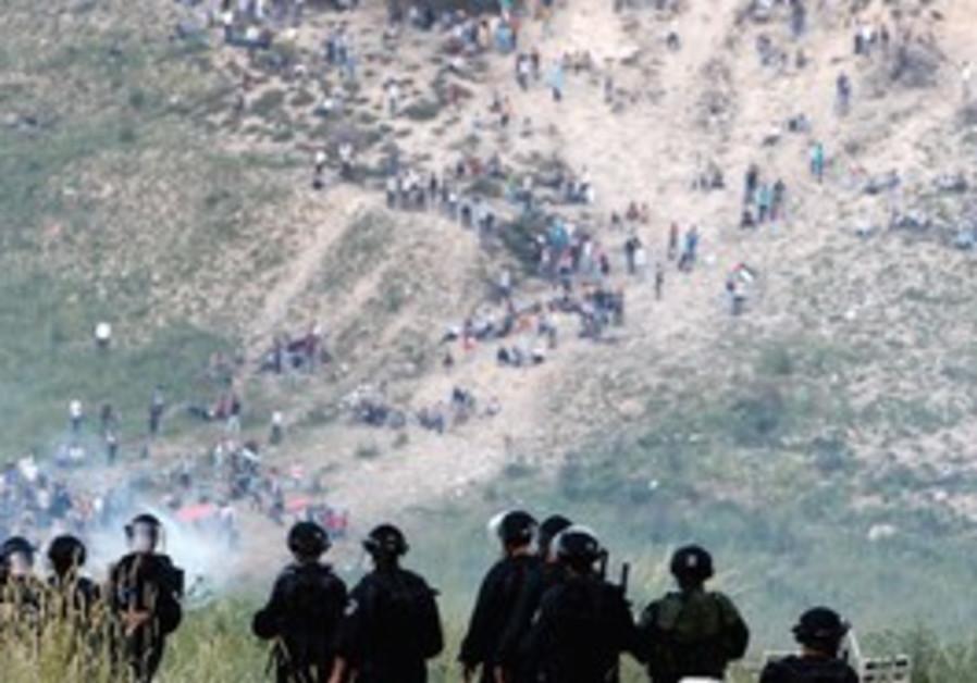 ISRAELI forces in Majdal Shams  on June 5.