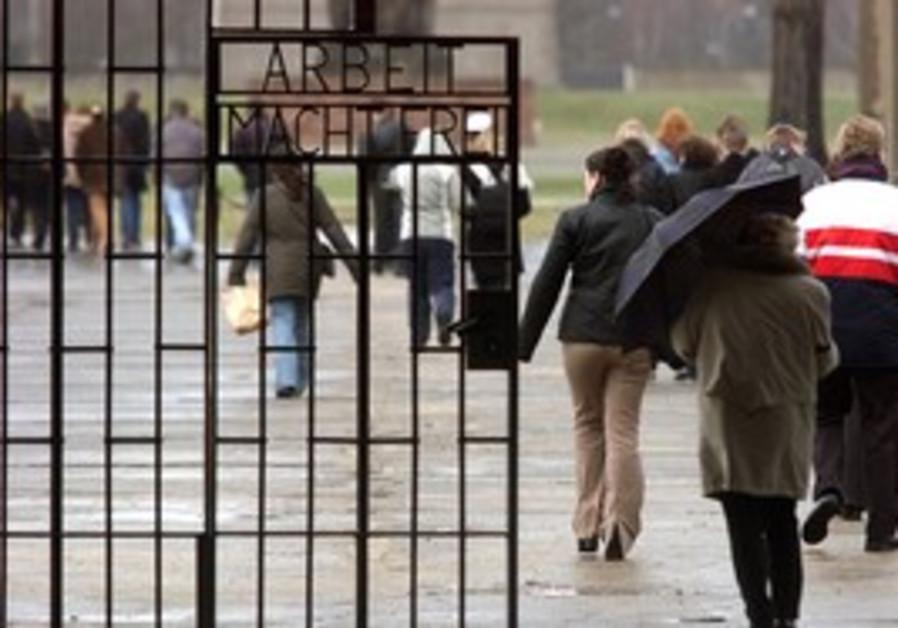 Visitors at Sachsenhausen concentration camp