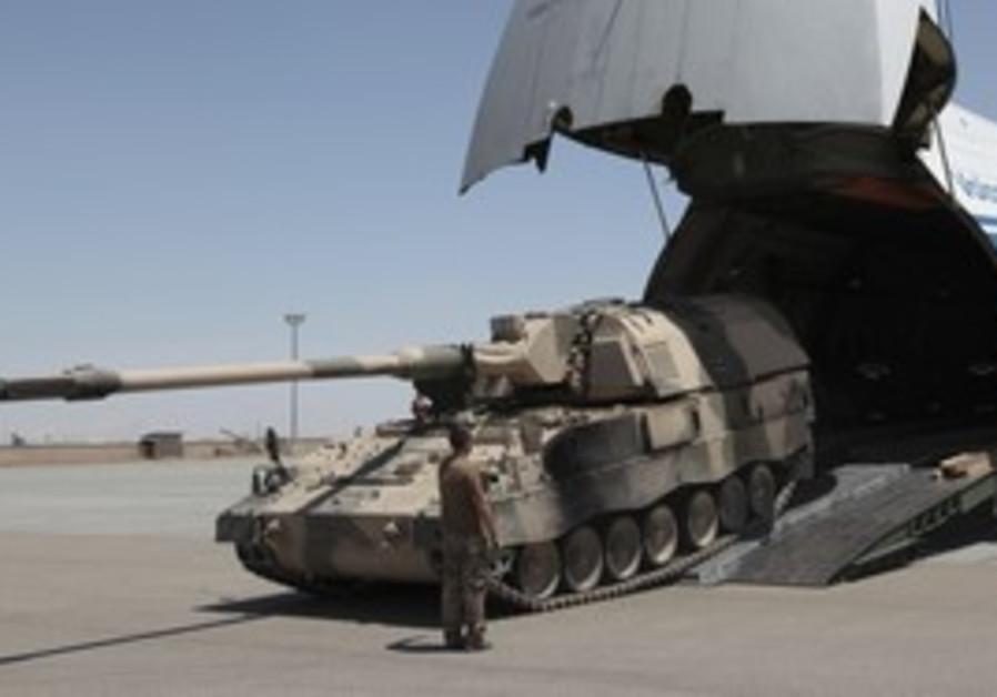 German tanks being delivered [illustrative]