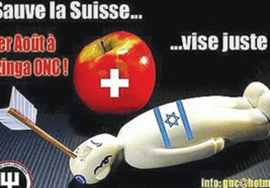"Geneve Non Conforme's ""Save Switzerland"" poster."
