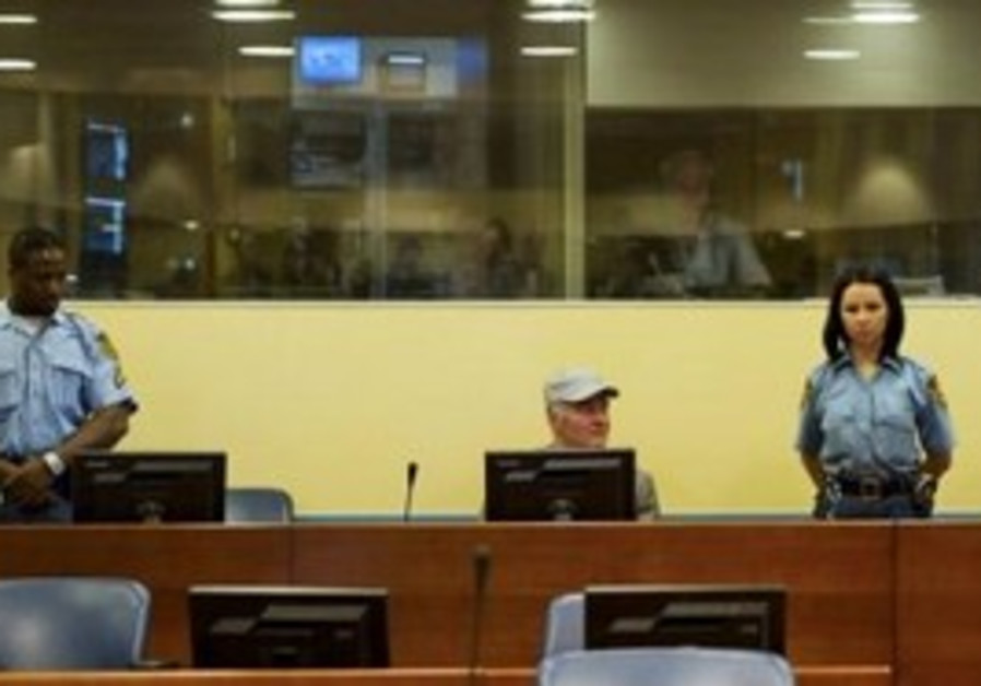 Radko Mladic at UN war crimes court in the Hague