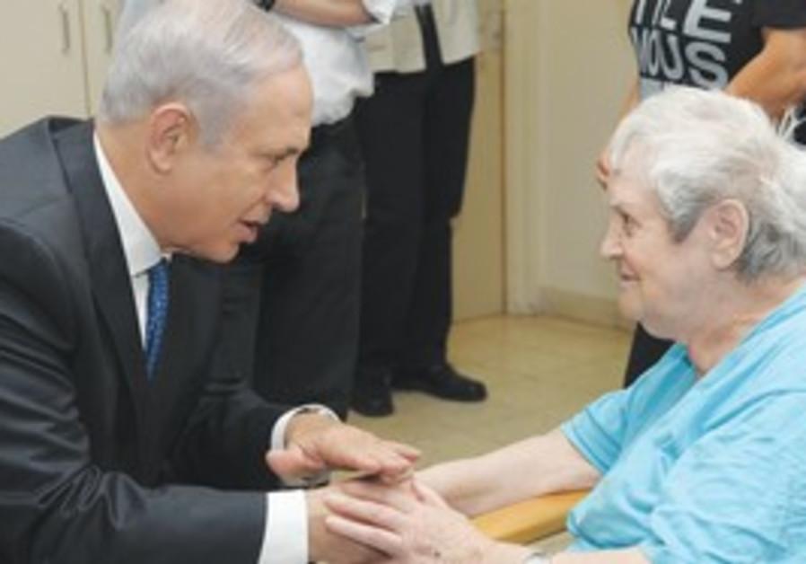 Netanyahu with Holocaust survivor