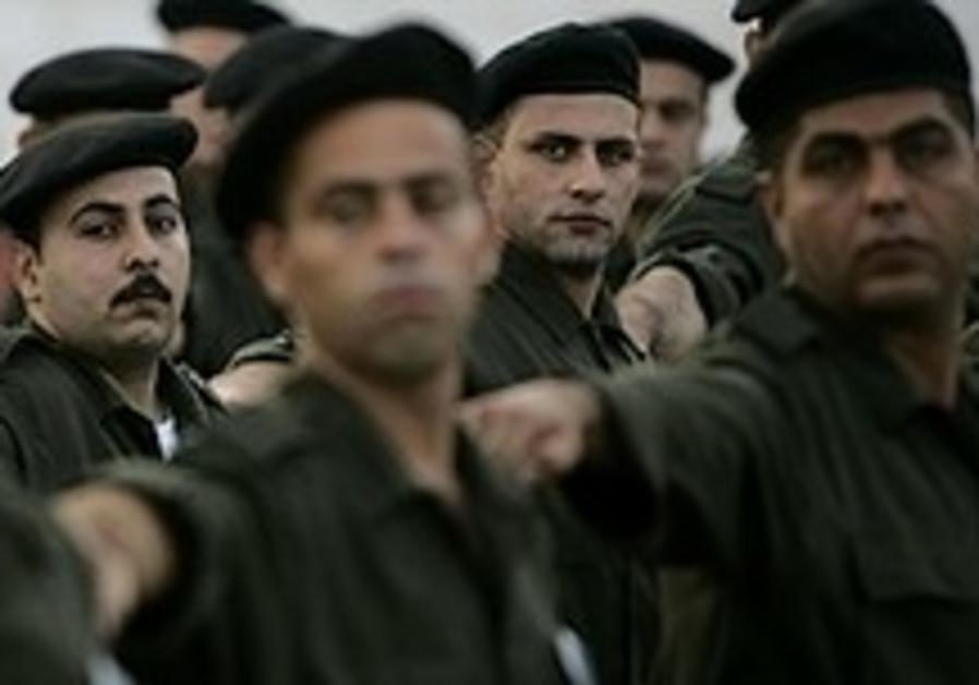 Palestinian officers' school opened