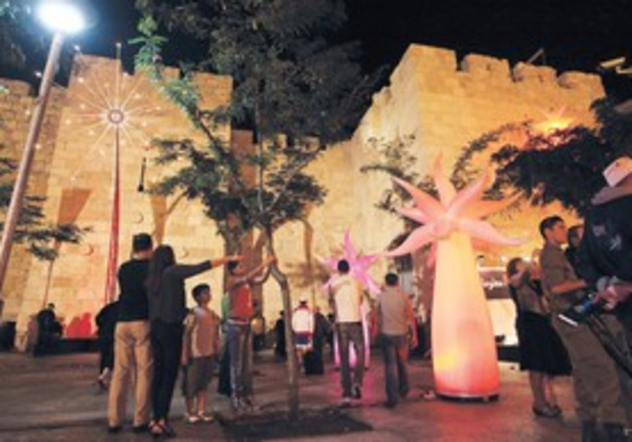THE JERUSALEM Light Festival in the Old City