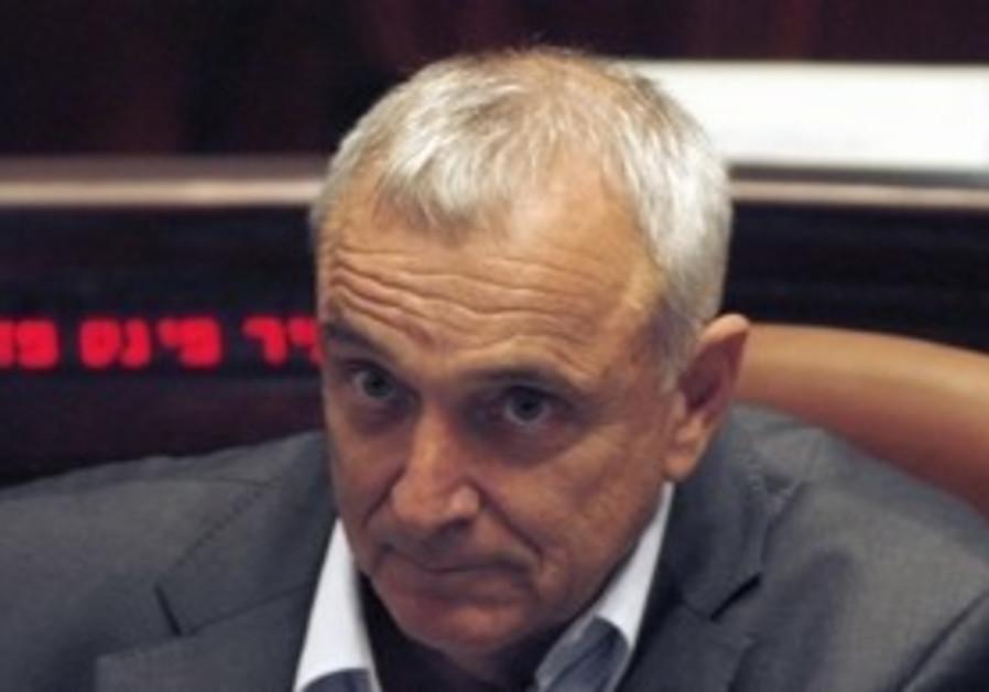Public Security Minister Yitzhak Aharonovitch.