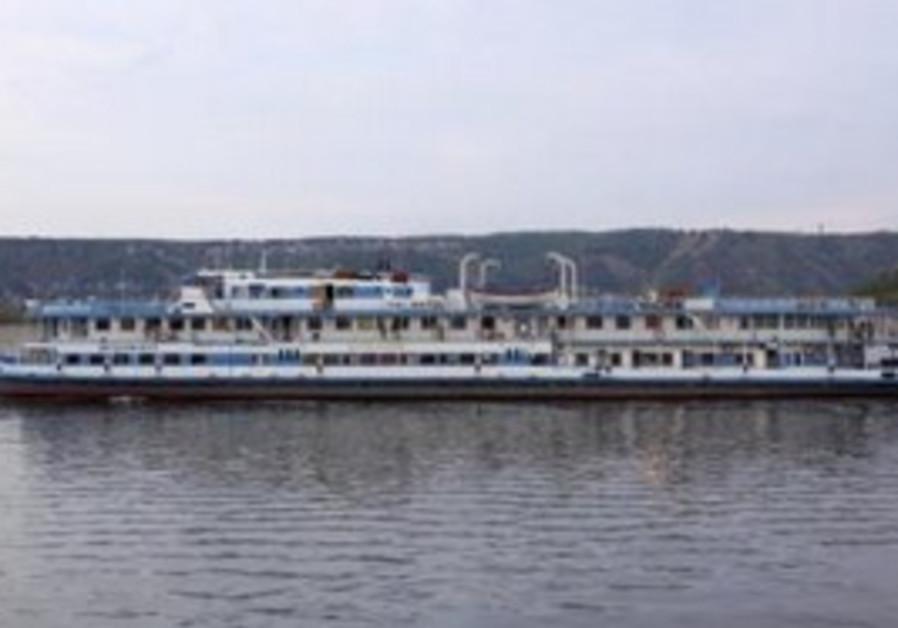"""""""Bulgaria"""" boat on Volga river in August 2010"""