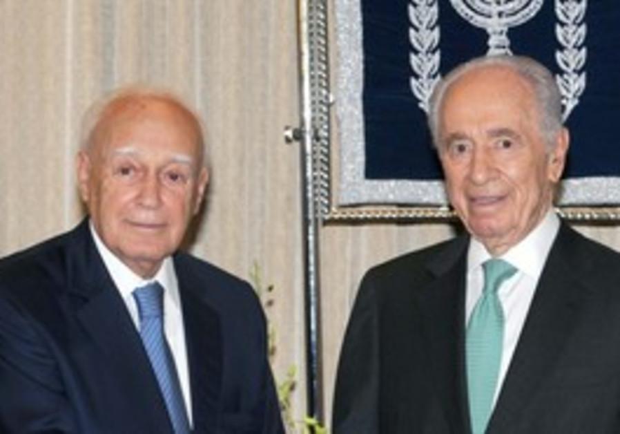 Peres with Karlos Papoulias