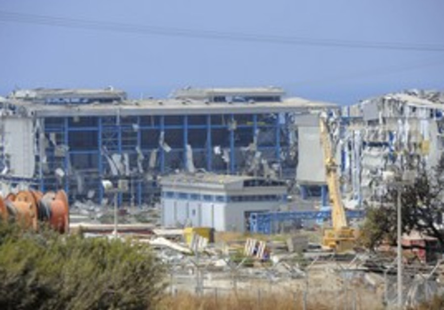 View of damaged Vassilikos power station in Cyprus