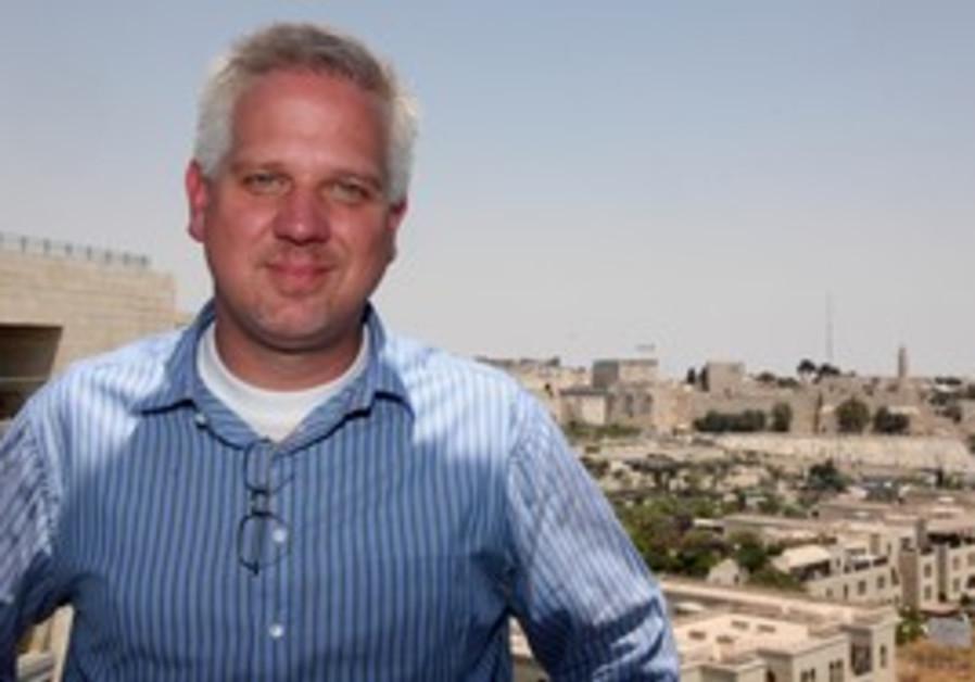 US television personality Glenn Beck in Jerusalem