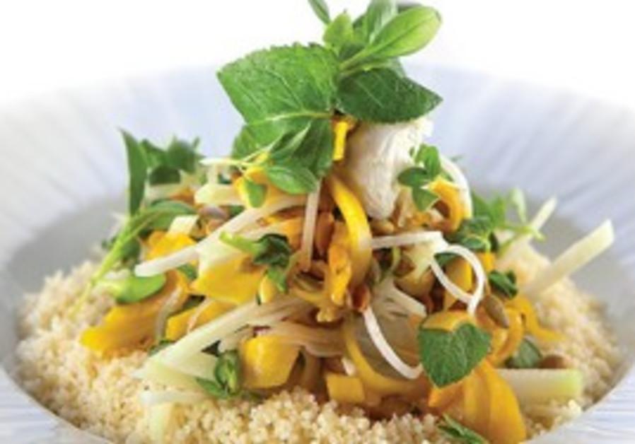 Squash and kohlrabi salad