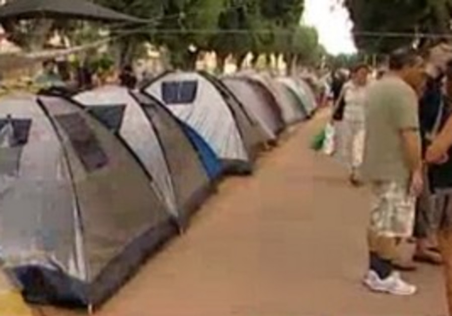 Tel Aviv housing prices tent protest
