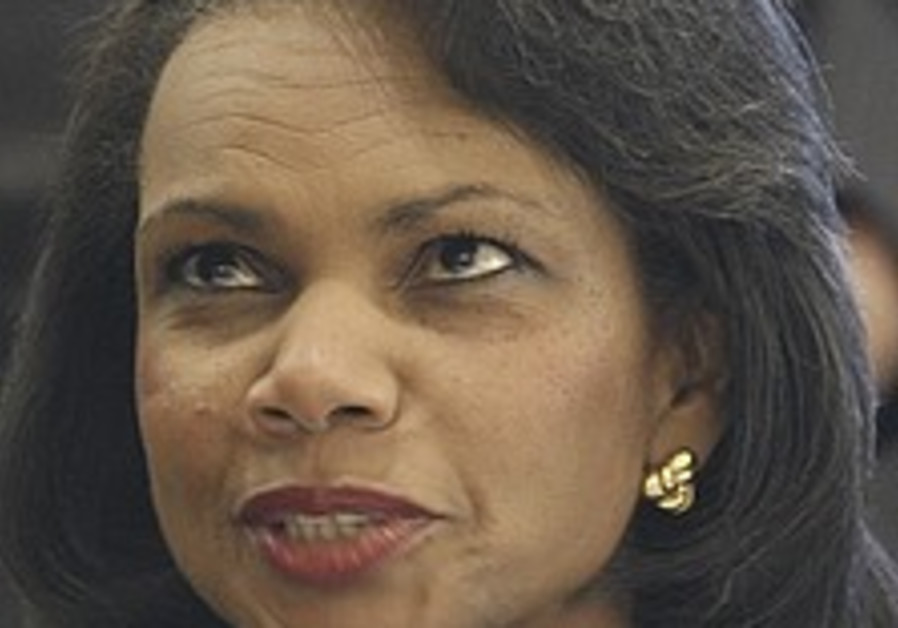 Rice tells GA that Mideast future at stake