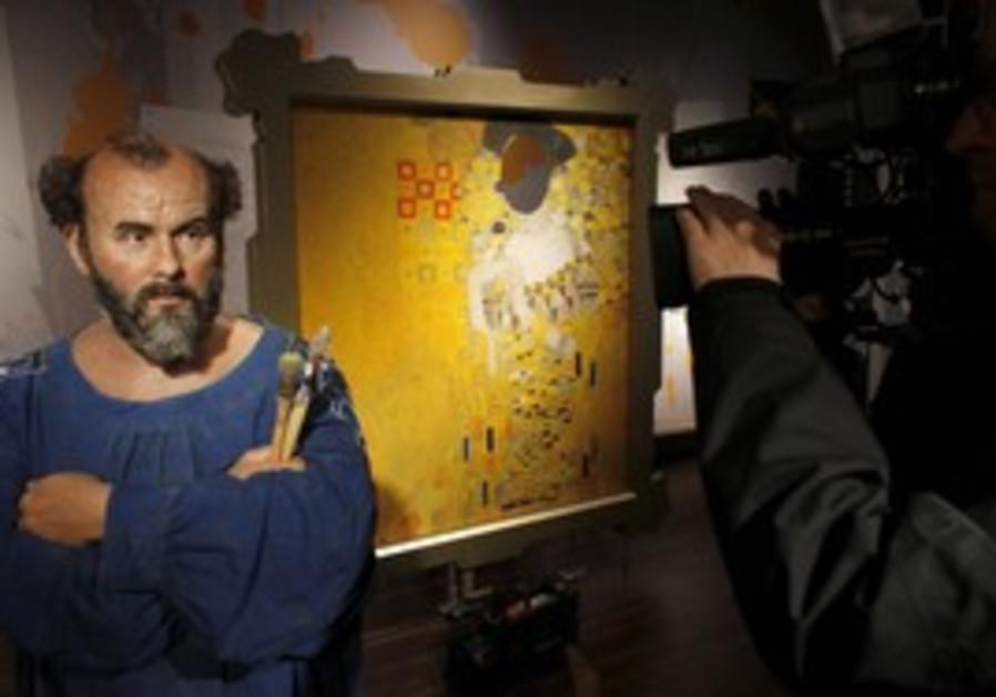 A waxwork of Gustav Klimt