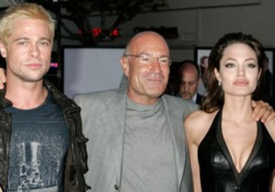 Arnon Milchan with Angelina Jolie and Brad Pitt