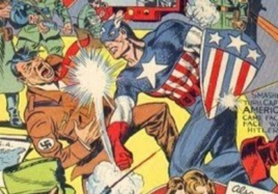 "The March 1941 front cover of ""Captain America #1"""