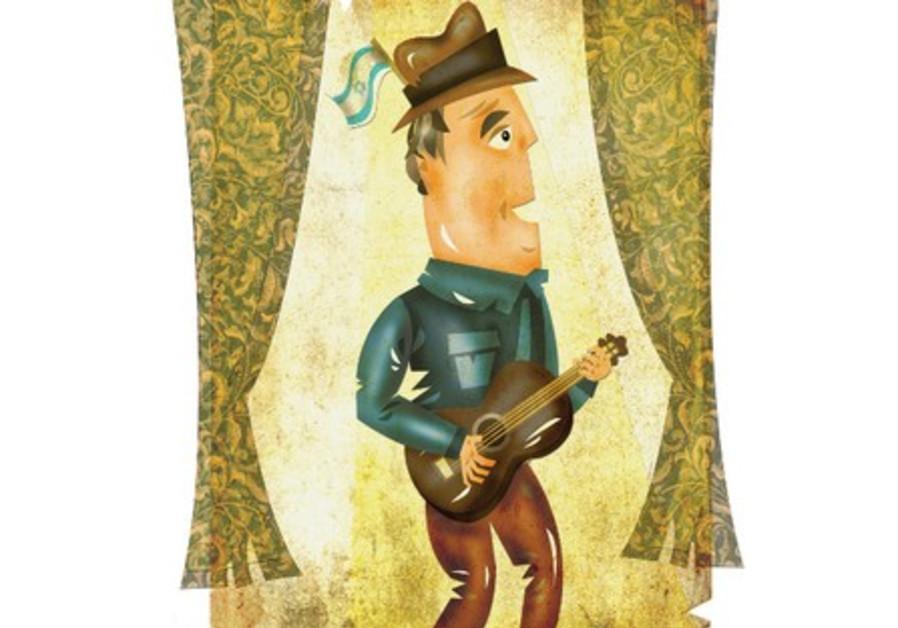 illustration of Paul Simon