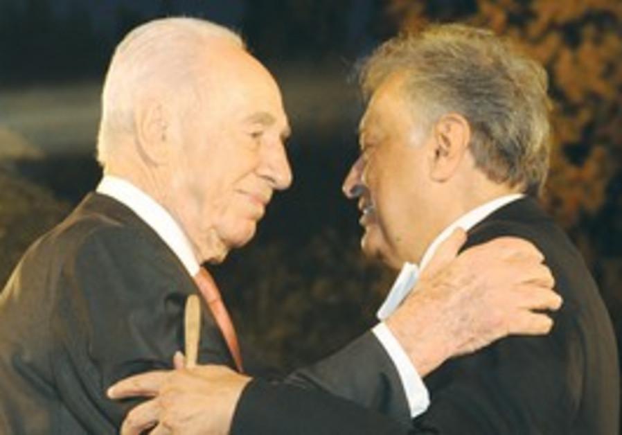 Shimon Peres with Zubin Mehta