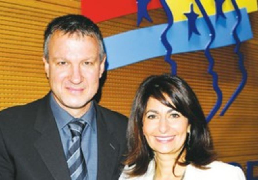 Erel Margalit with Valerie Hoffenberg