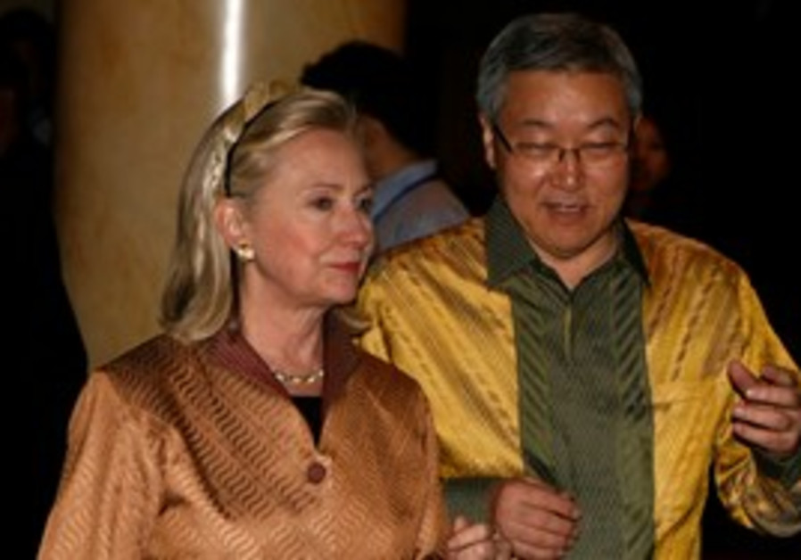 Clinton with South Korean FM Kim Sung-hwan, Friday