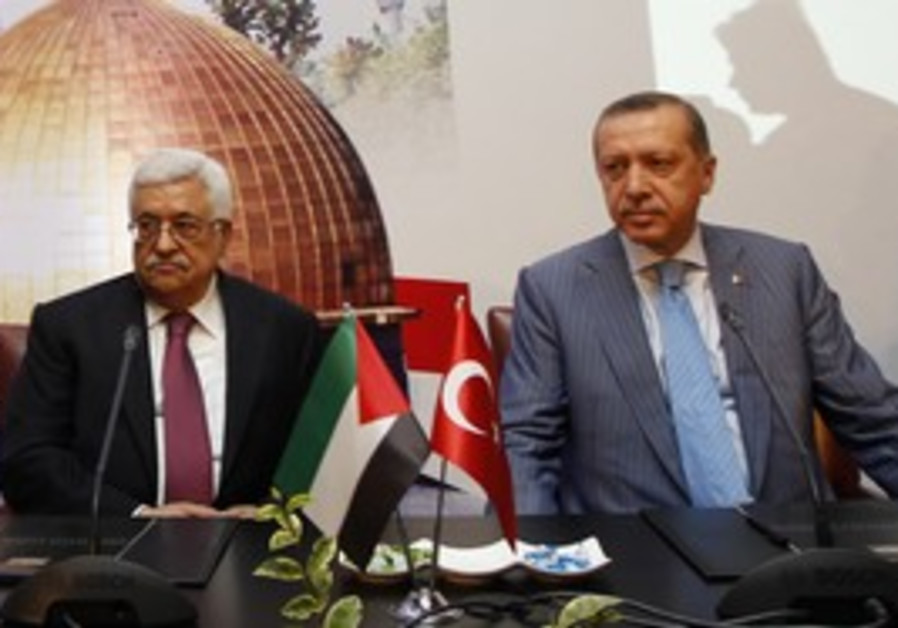 Abbas and Erdogan meet in Istanbul, Saturday.