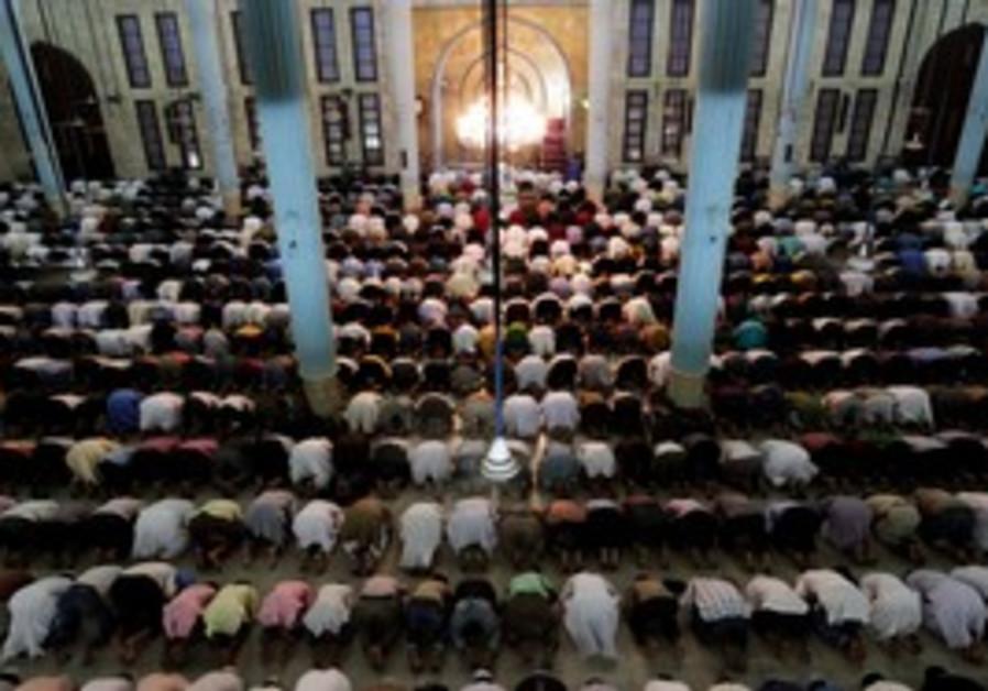 Muslims pray in mosque [illustrative]