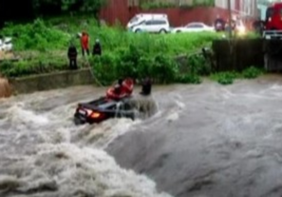 flashfloods in South Korea