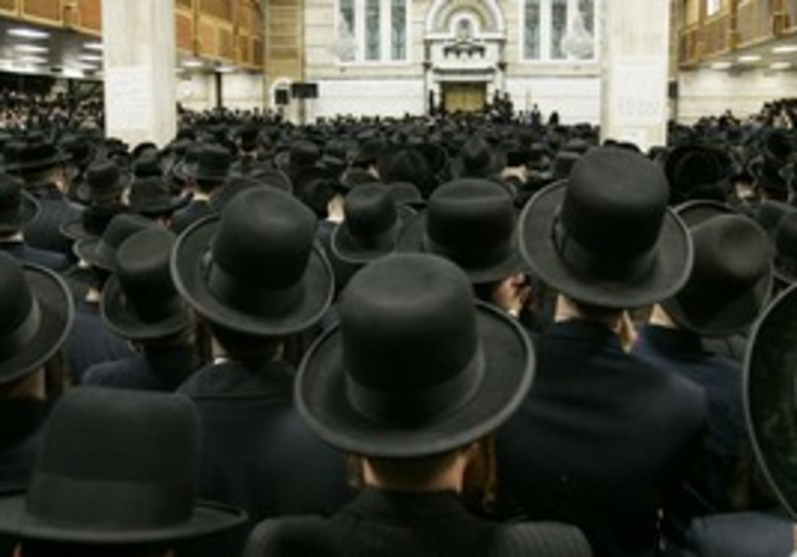 Orthodox Jews synagogue
