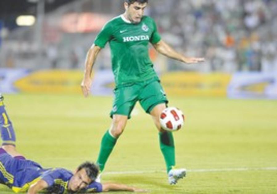 Maccabi Haifa striker Vladimir Dvalishvili.