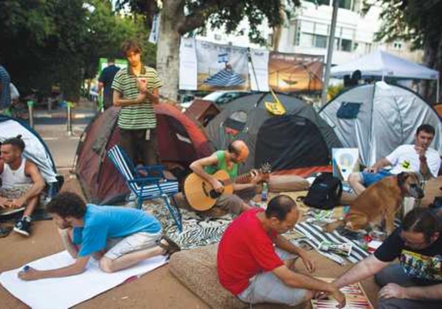 Protestors against rising property prises.