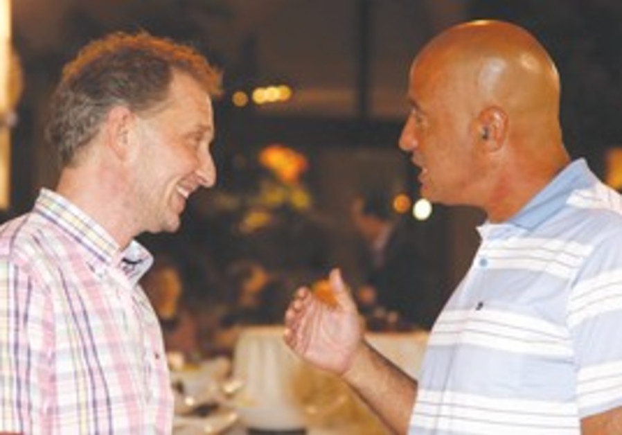 David Horovitz and 'Jerusalem Post' owner Eli Azur