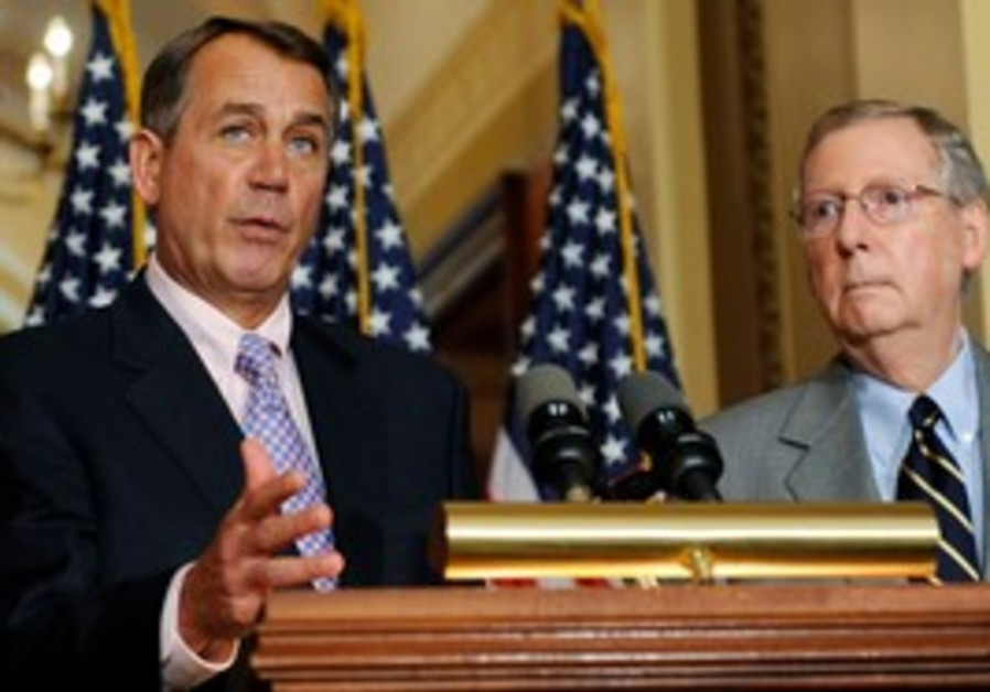 Boehner and McConnel discuss US debt deal