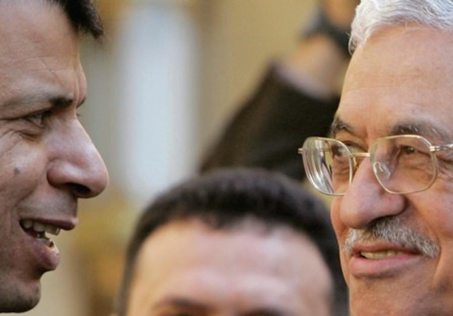 Former Fatah strongman Dahlan and PA Pres Abbas.