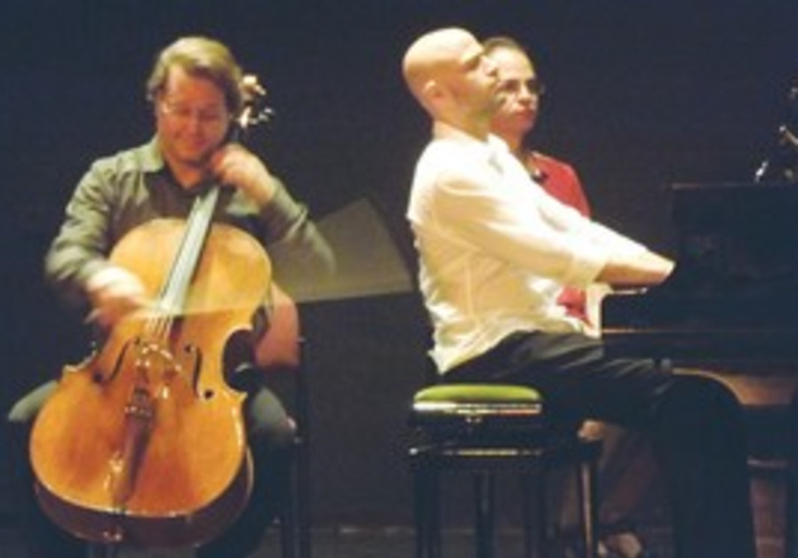 Cellist Orfeo Mandozzi and pianist Ohad Ben-Ari.