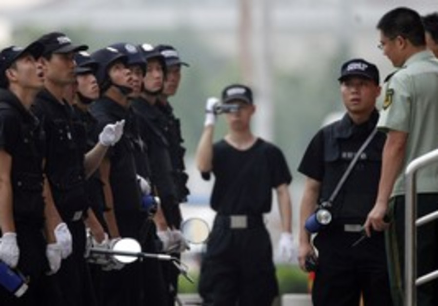 Chinese police in Shanghai [illustrative]