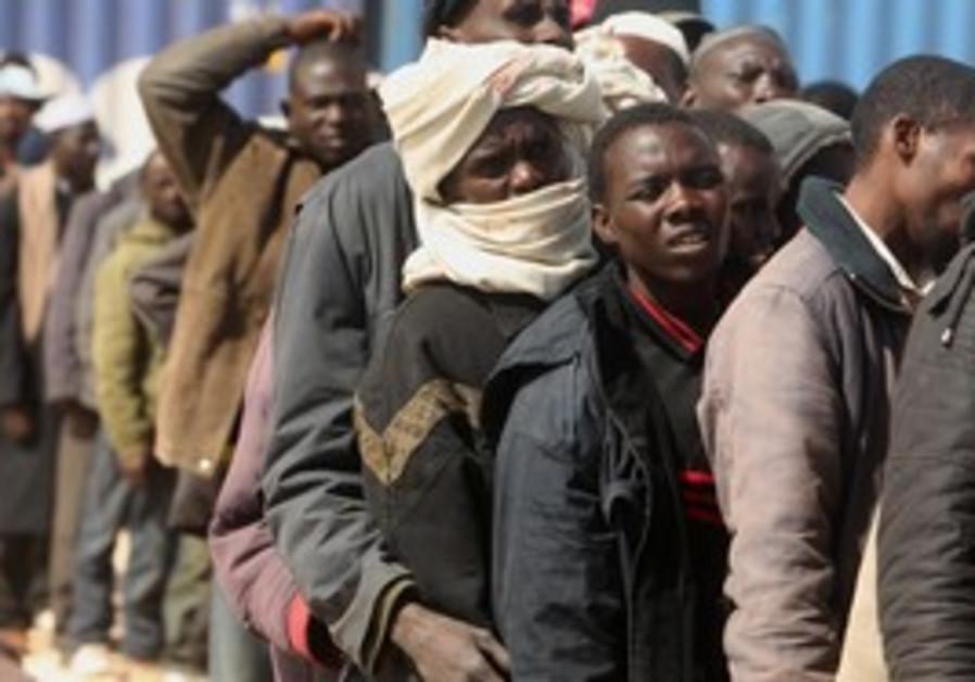 African migrants (illustrative)