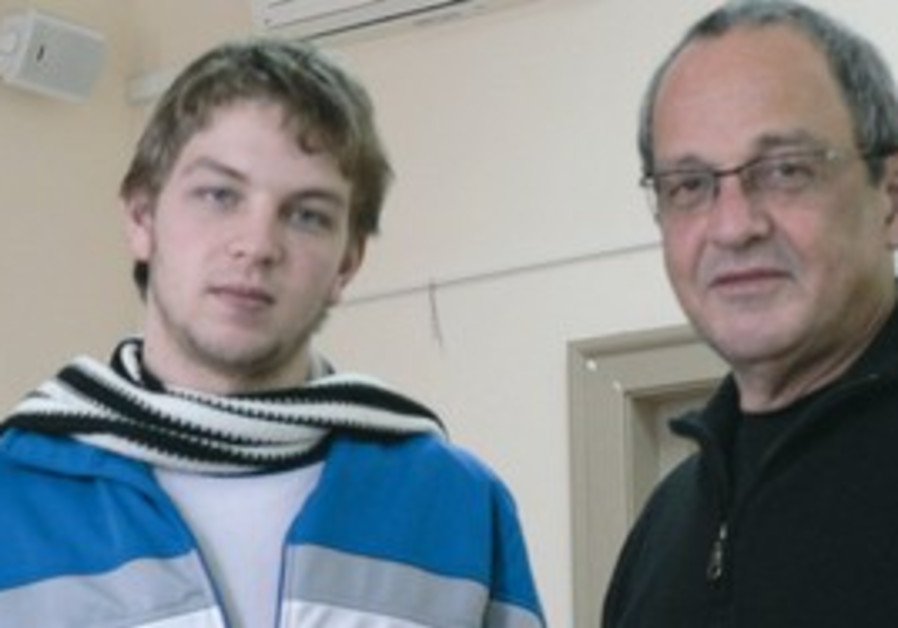 Filmmaker David Fisher  with his son, Yuval