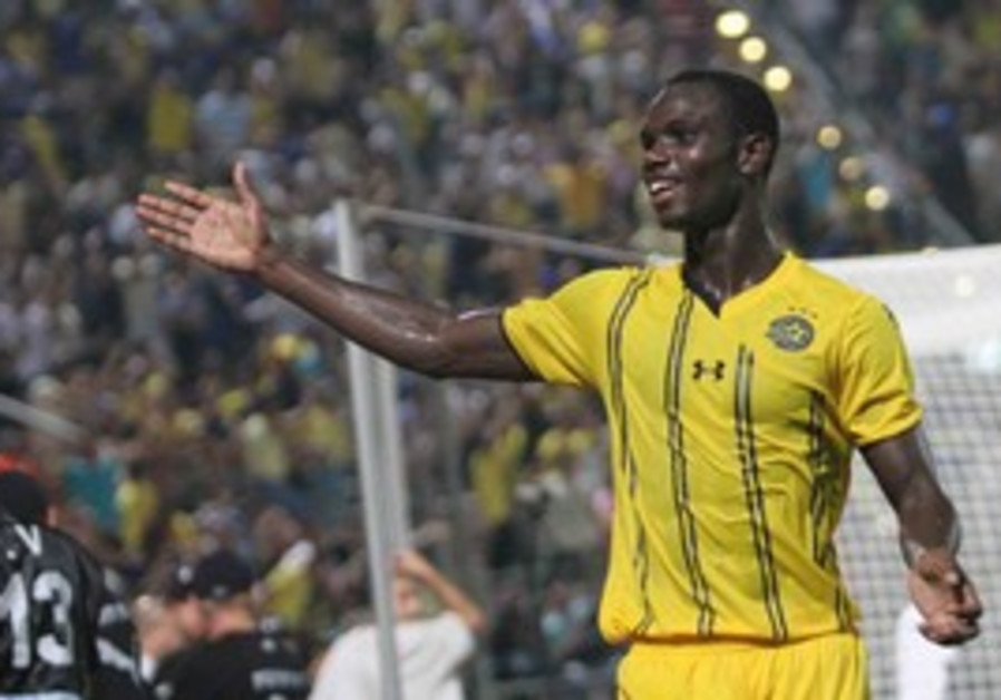 Moussa Konate of Maccabi Tel Aviv.