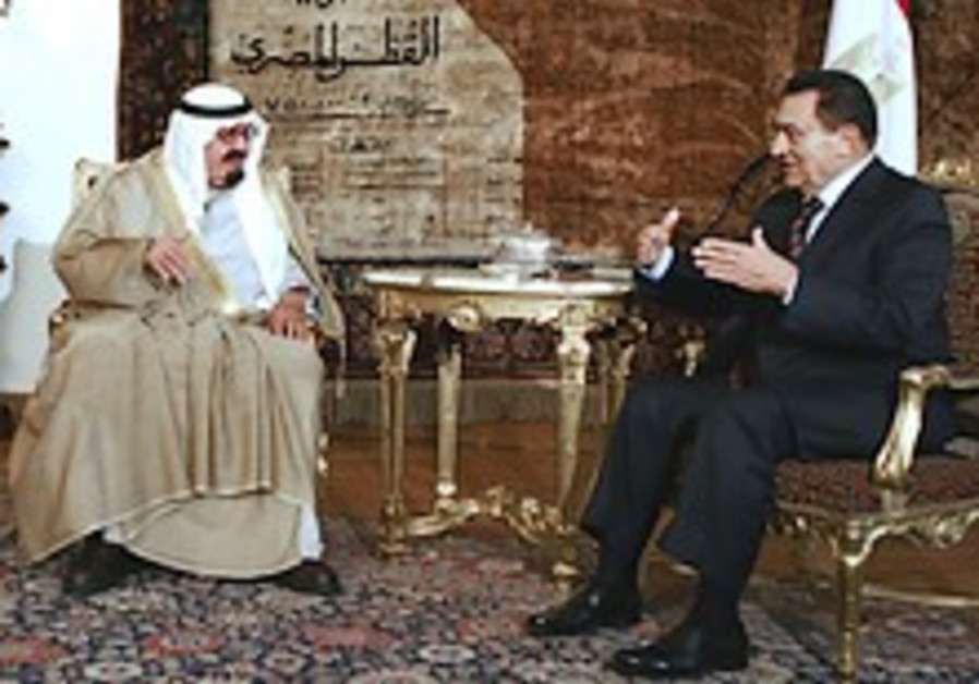 Mubarak meets Saudi king, expresses support for ME parley