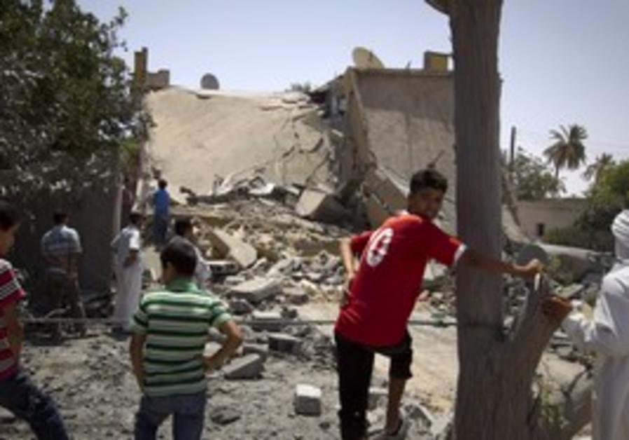 bombed house in Zlitan, Libya