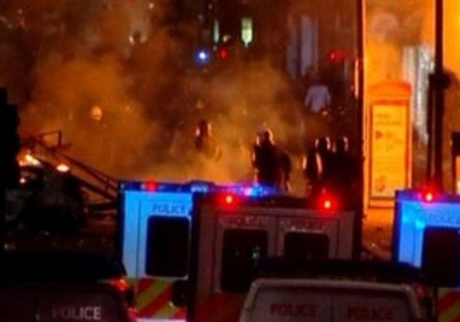 London protest turns violent