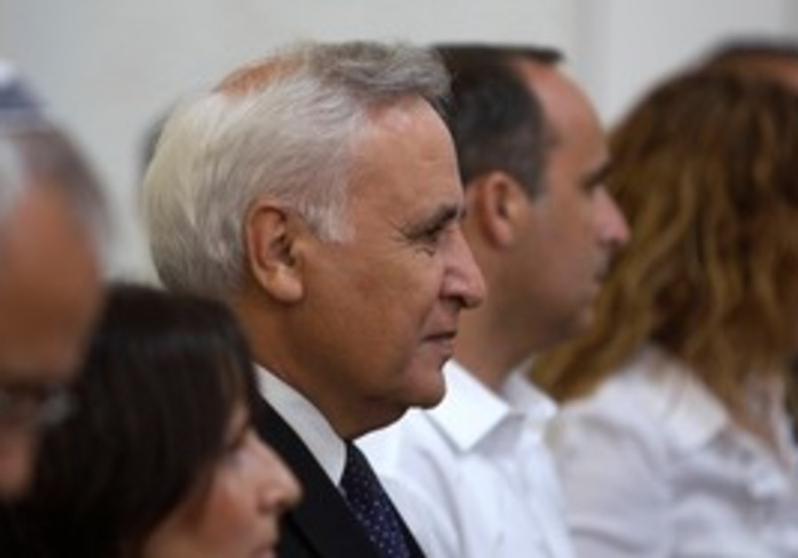 Former president Moshe Katsav at Supreme Court
