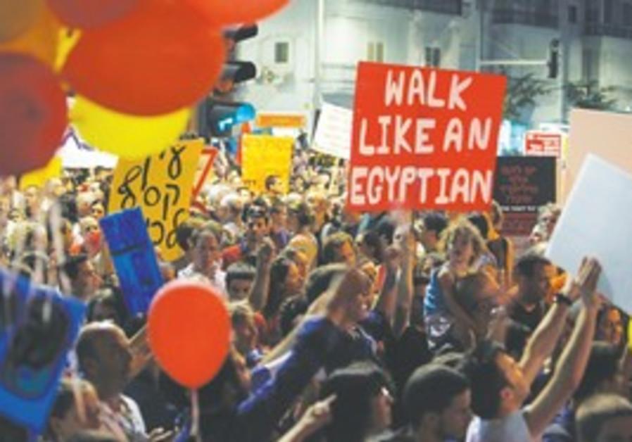 Social justice protest on Kaplan Street
