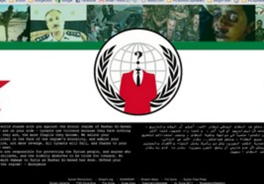 Anonymous hackers group hits Syria govt website