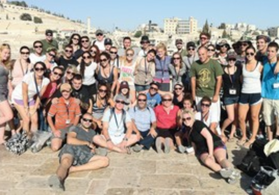 Mayonot Birthright group visits the City of David