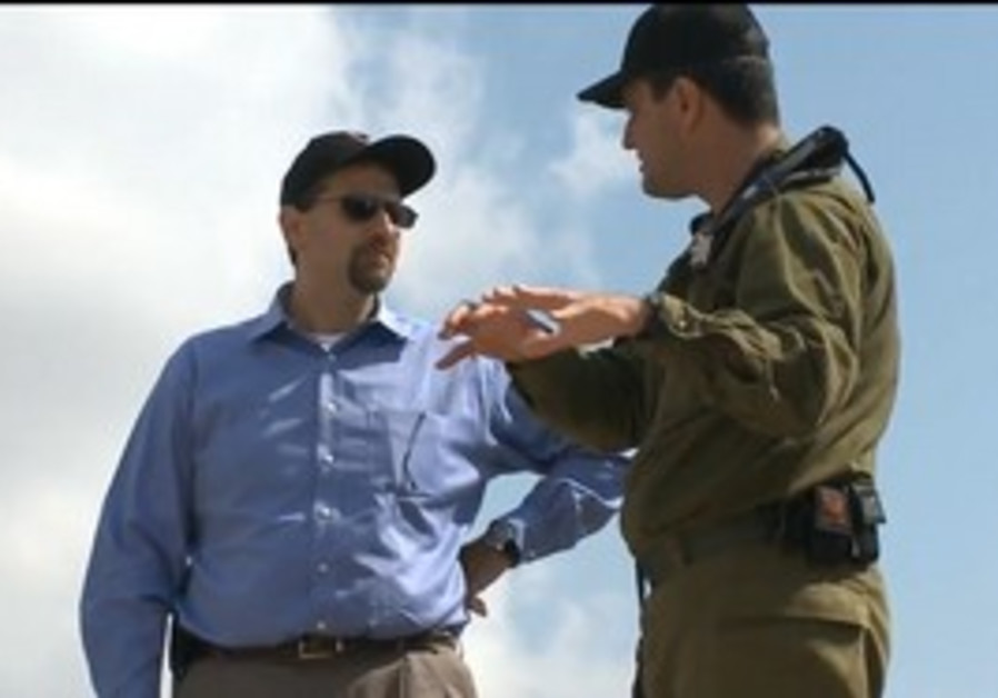 "US envoy Shapiro visits ""Iron Dome"" Battery"