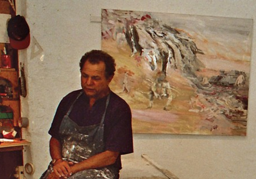 Ivan Schwebel in his studio, June 2002.