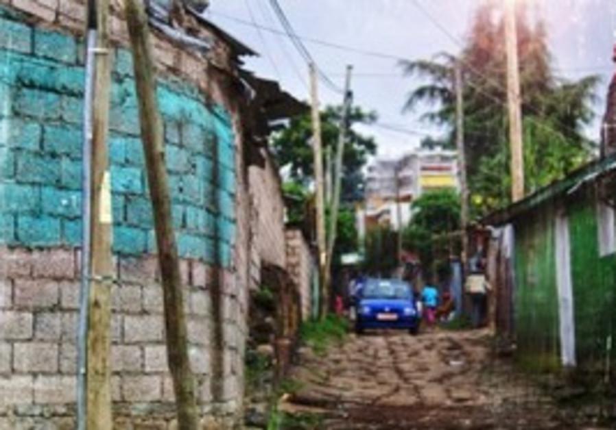 African street lights